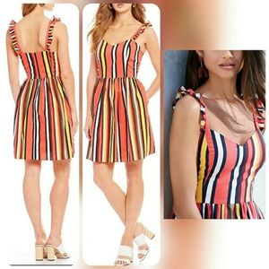 Flirty! Gianni Bini Kristin Poplin Stripe Dress